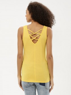 New Look Lattice Back Vest