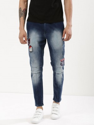 K DENIM Washed Denim Joggers W...
