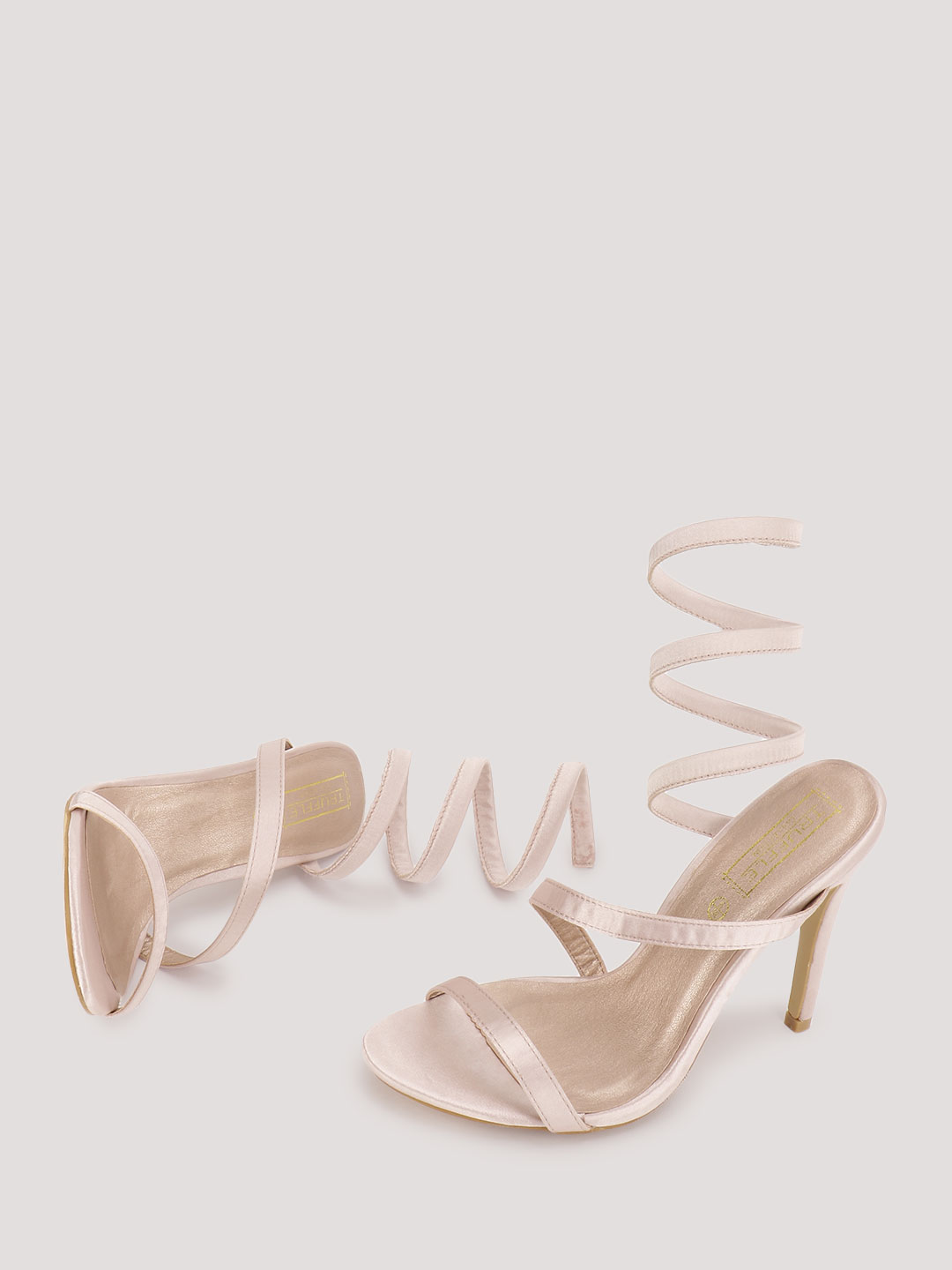 Truffle Collection Pink Strappy Heeled Sandals 1