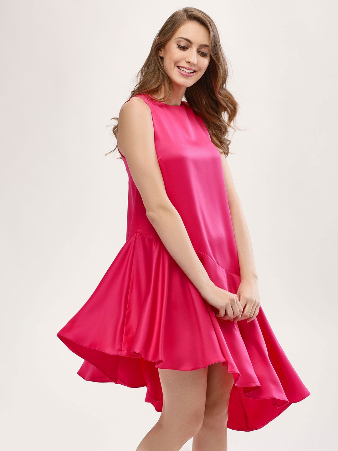 KOOVS Pink High Low Dress 1