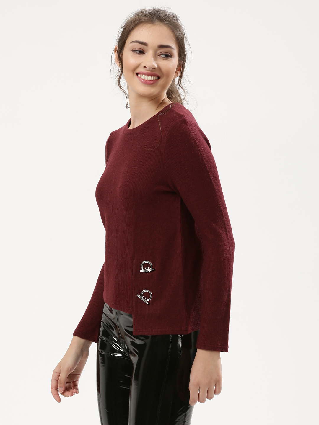 Urban Bliss Berry Asymmetric Hem Jumper 1