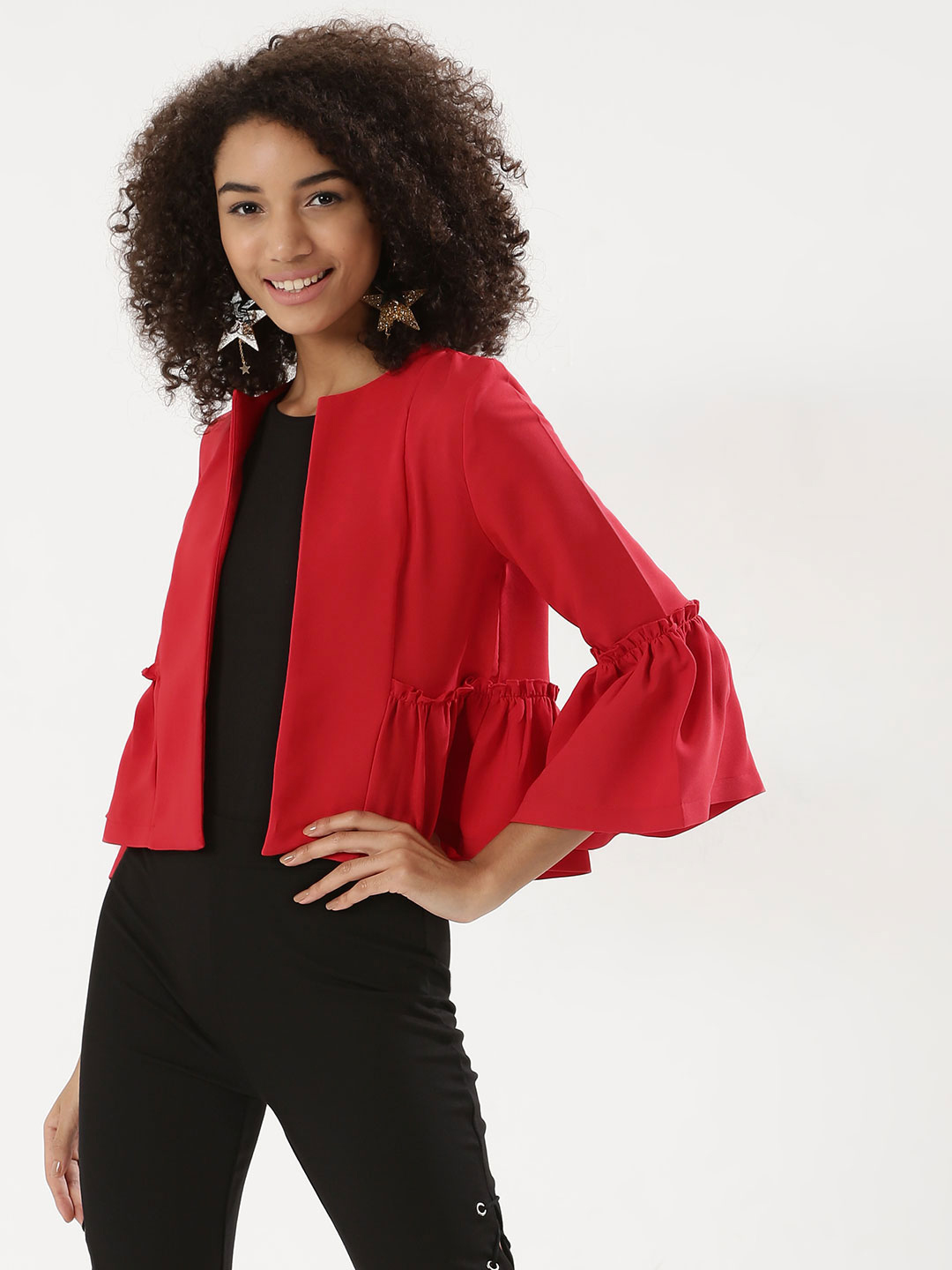 KOOVS Red Cape Jacket 1