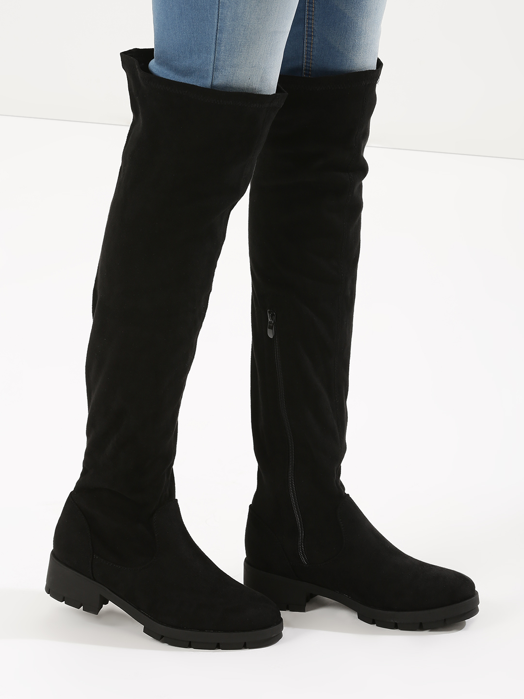 Truffle Collection Black Knee High Boots 1