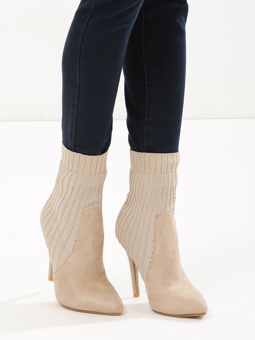 Velvet Army Nude Sock Fit Boots 1
