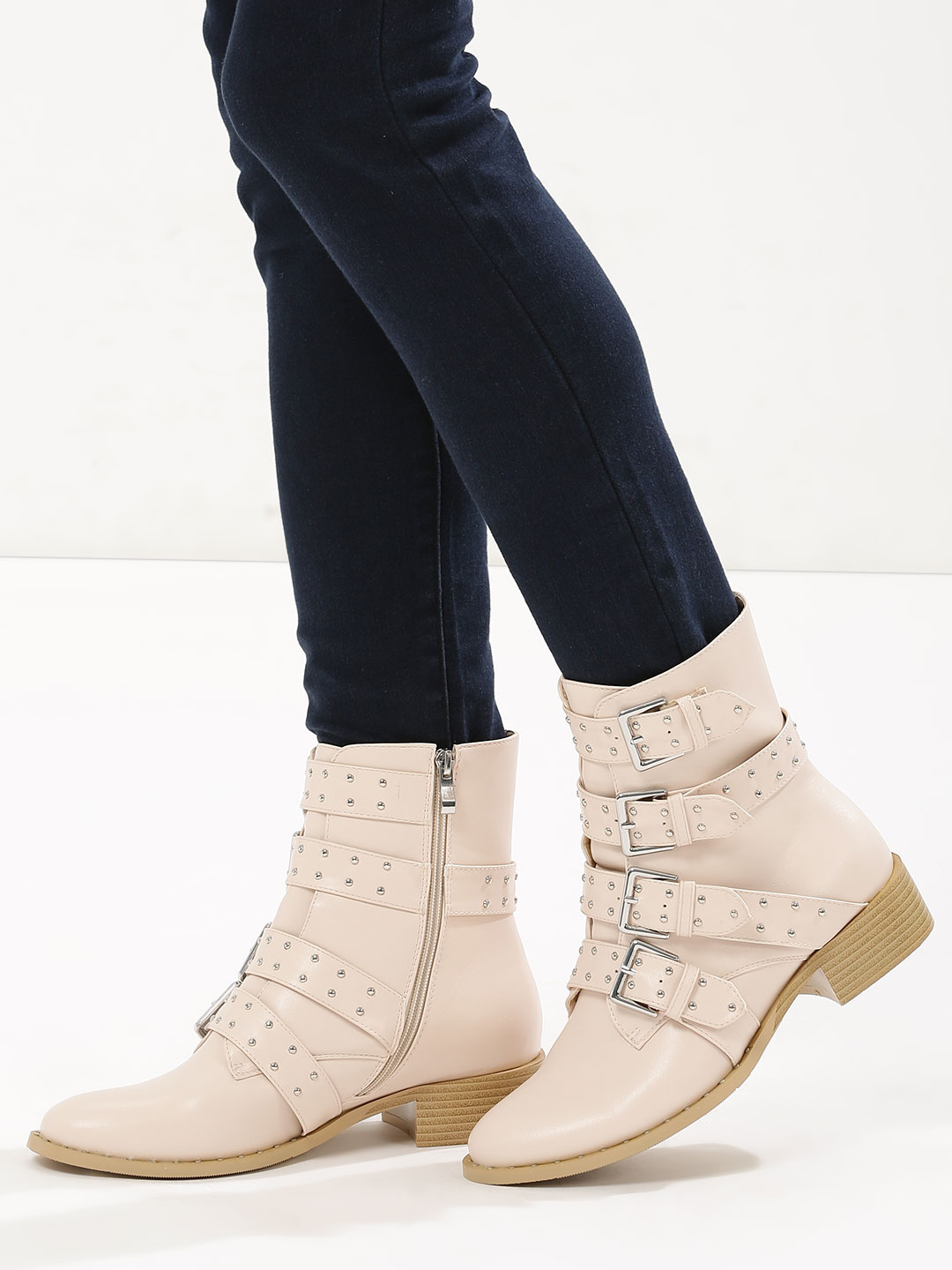 Velvet Army Nude Multi Buckle Ankle Boots 1