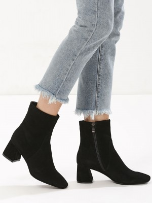 VELVET ARMY Ankle Boots With F...