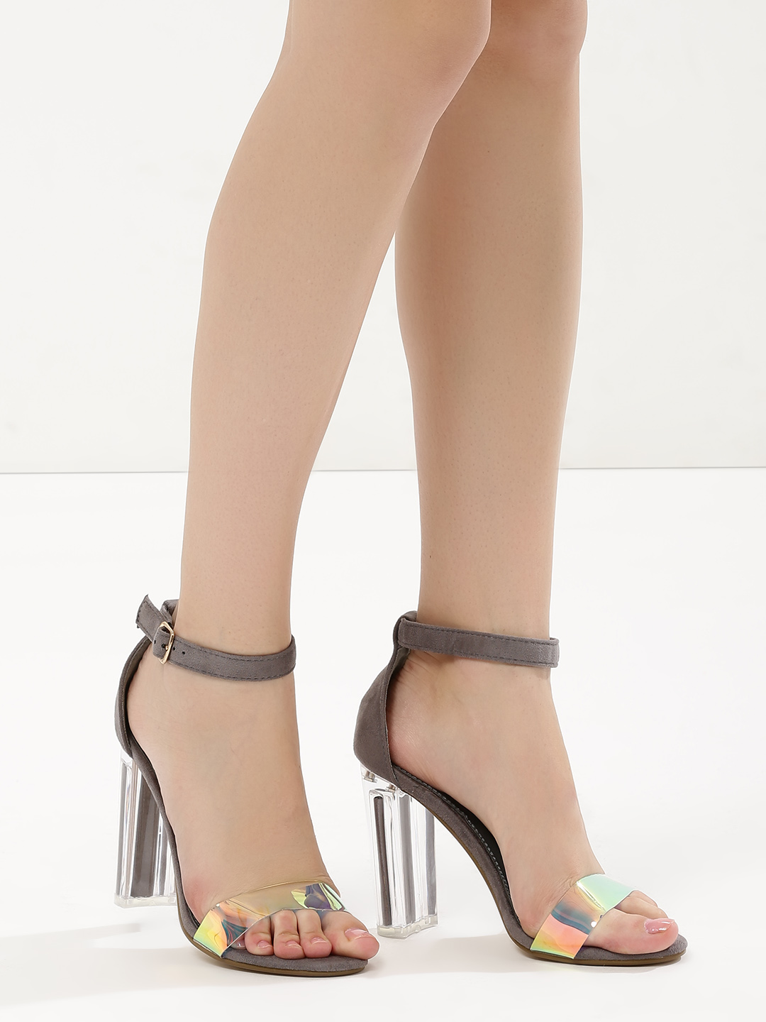 Intoto Grey Barely There Heeled Sandals 1