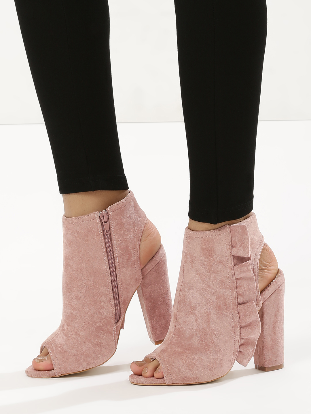 Intoto Blush pink Ruffle Detail Boots 1