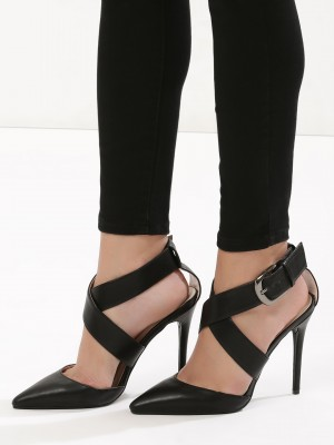 INTOTO Cross Strap Heeled Sand...