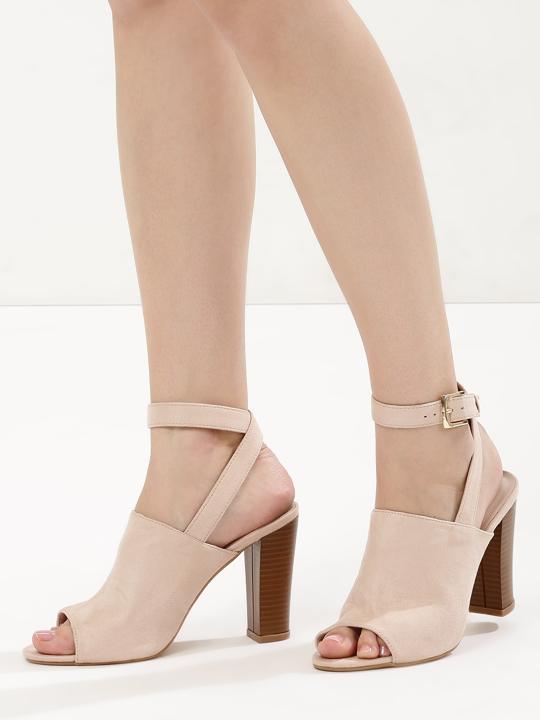 Intoto Nude Block Heeled Sandals 1