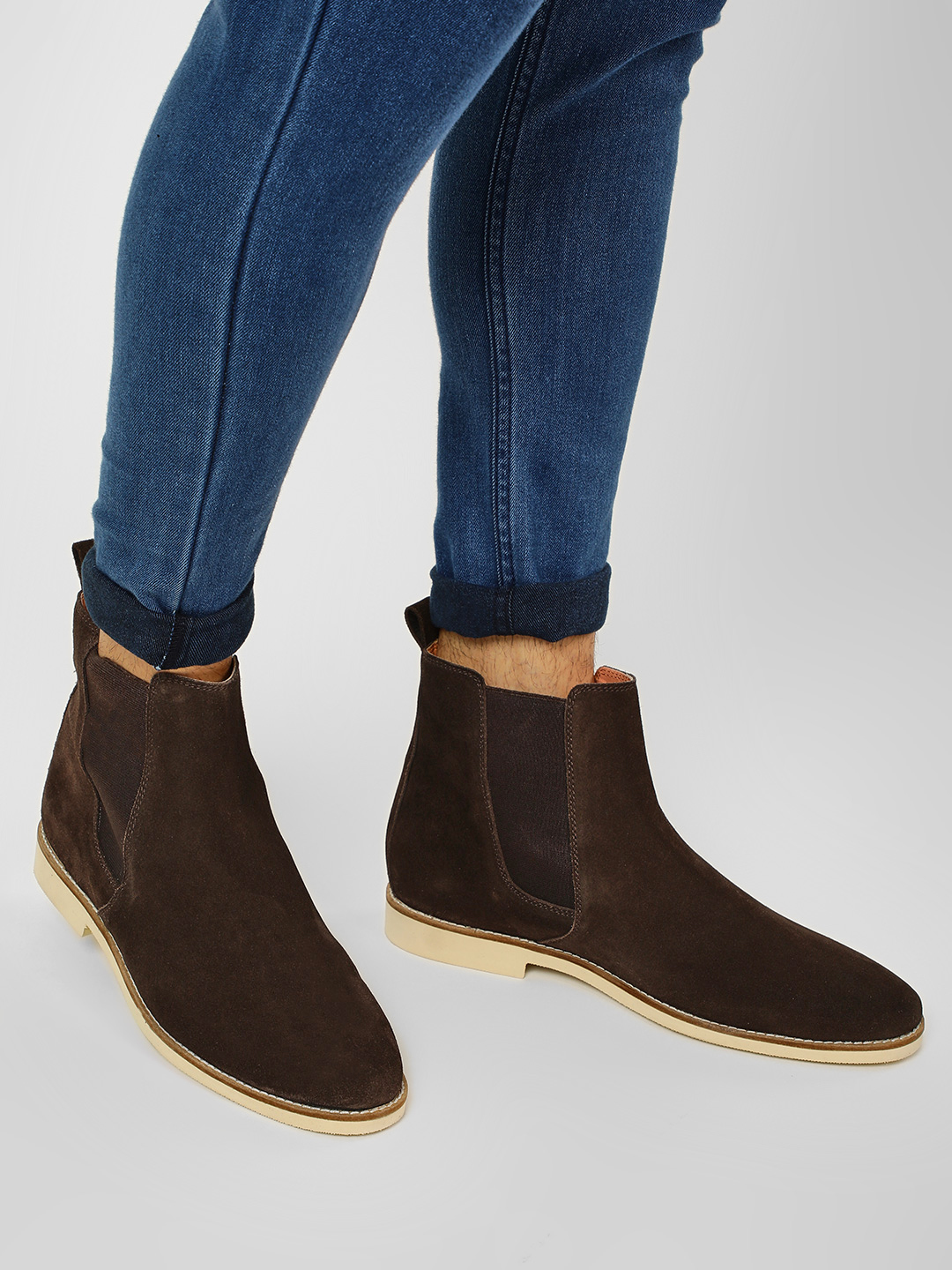 Griffin Brown Suede Gusset Chelsea Boots 1