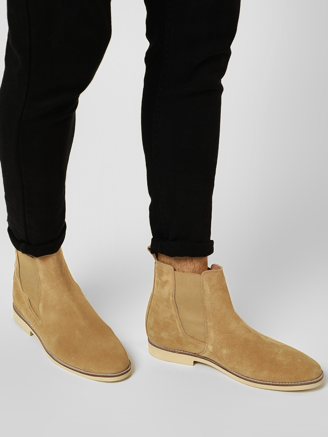 Griffin Sand Suede Gusset Chelsea Boots 1