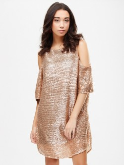 Spring Break All Over Sequin Shift Dress