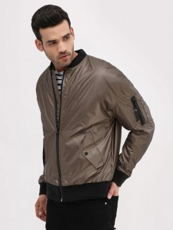 New Look Sleeve Pocket Bomber Jacket