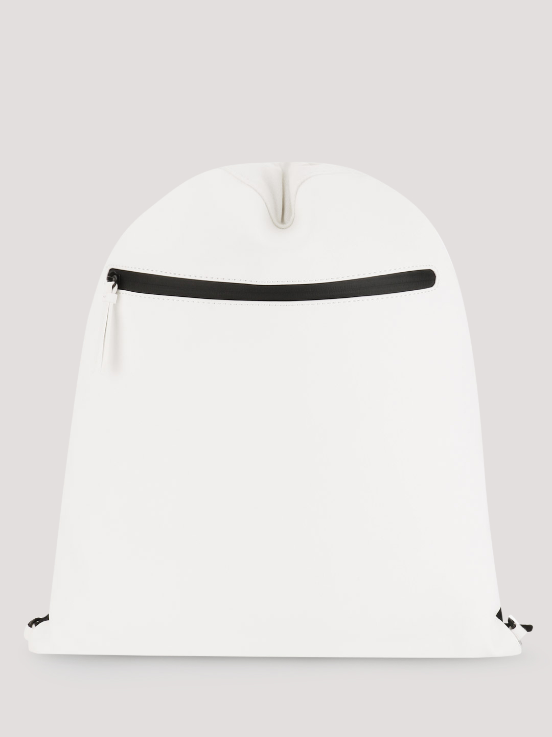 New Look White Rubber Coated Drawstring Backpack 1