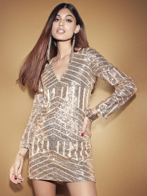 KOOVS Sequin Shift Dress...