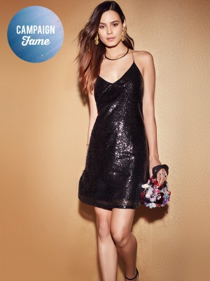 KOOVS Sequin Swing Dress...
