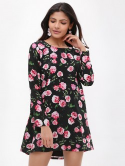 KOOVS Floral Print Swing Dress