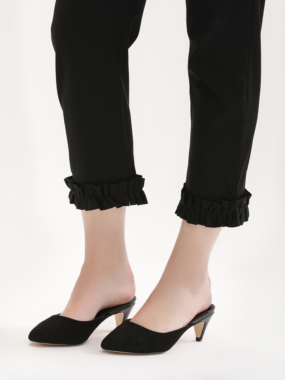 New Look Black Mules with Conical Heel 1