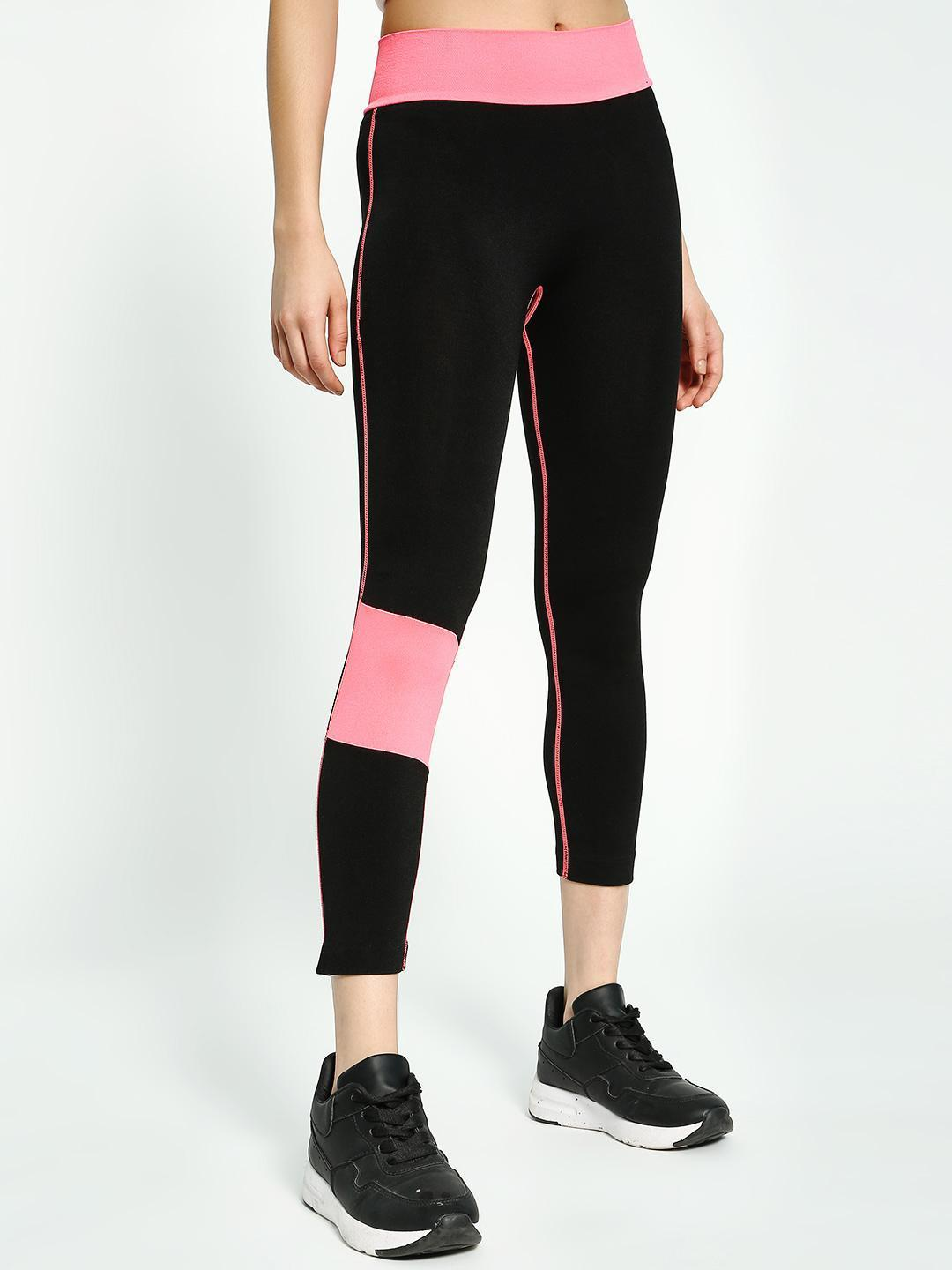 South Beach Multi Fleece Contrast Panel Leggings 1