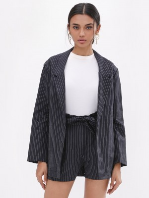 KOOVS Striped Boyfriend Blazer...