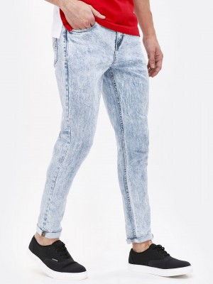 K DENIM Bleach Washed Slim Fit...