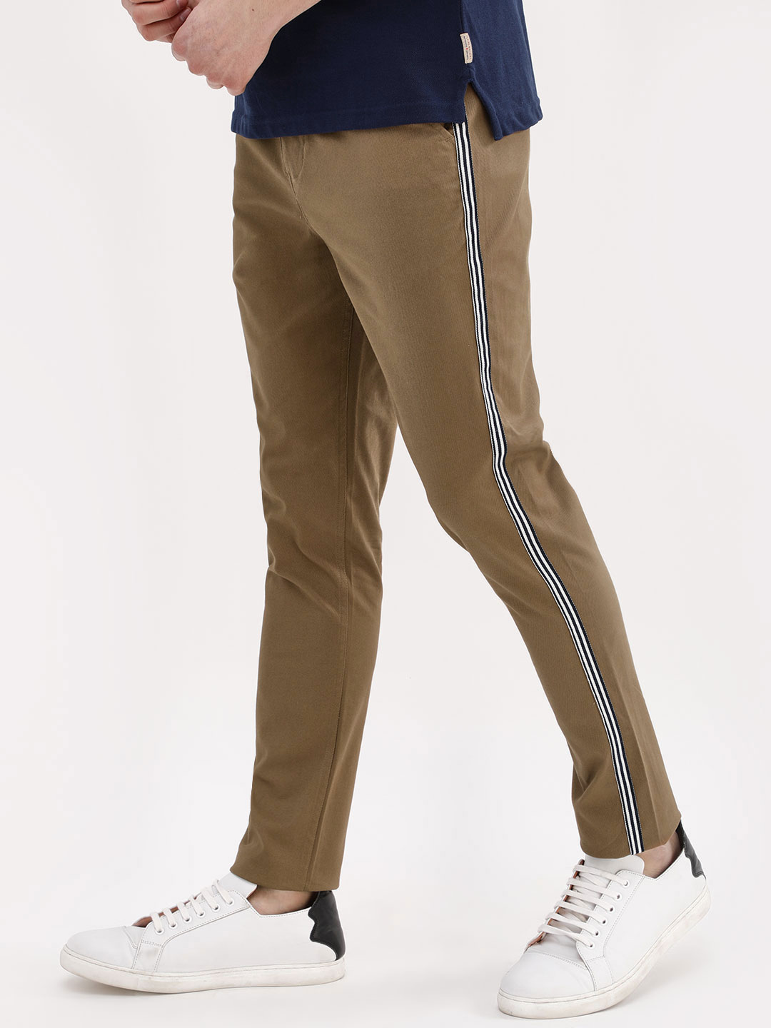 KOOVS Skinny Fit Trousers With...
