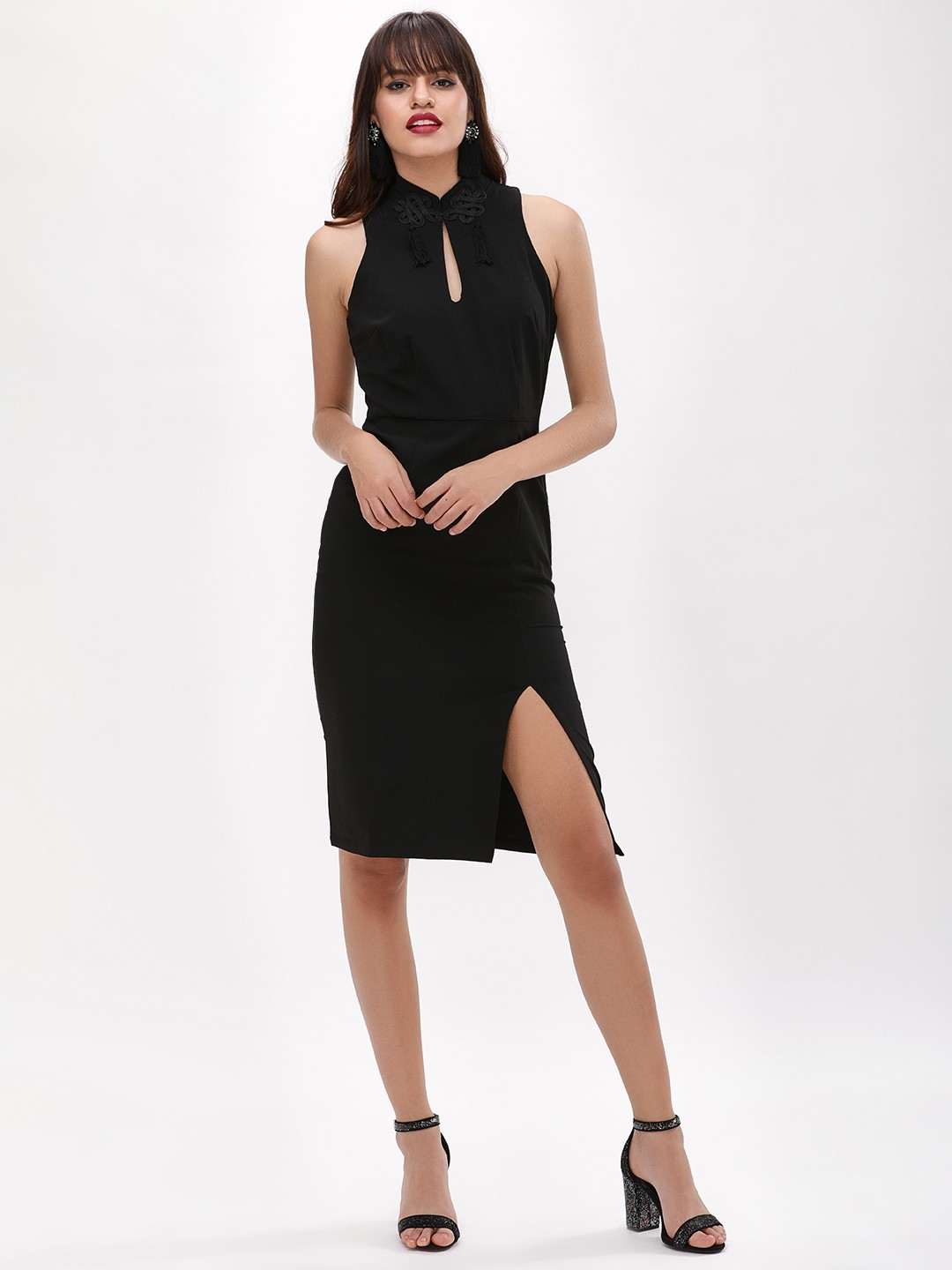 Glamorous Black Cut Out Bodycon Dress 1