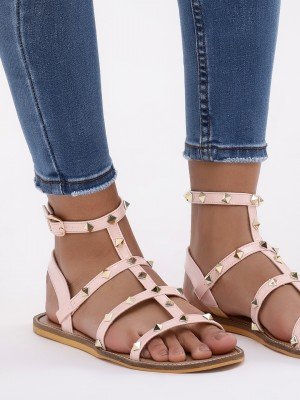 KOOVS Studded Toe Flat Sandals...