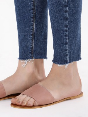 KOOVS Suede Flat Slide Sandals...