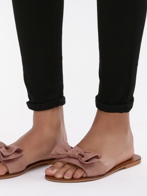 KOOVS Bow Detail Flat Sandals...