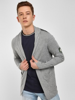 Kultprit Badge Open Pocket Cardigan