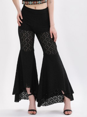SBUYS Lace Asymmetric Flared P...