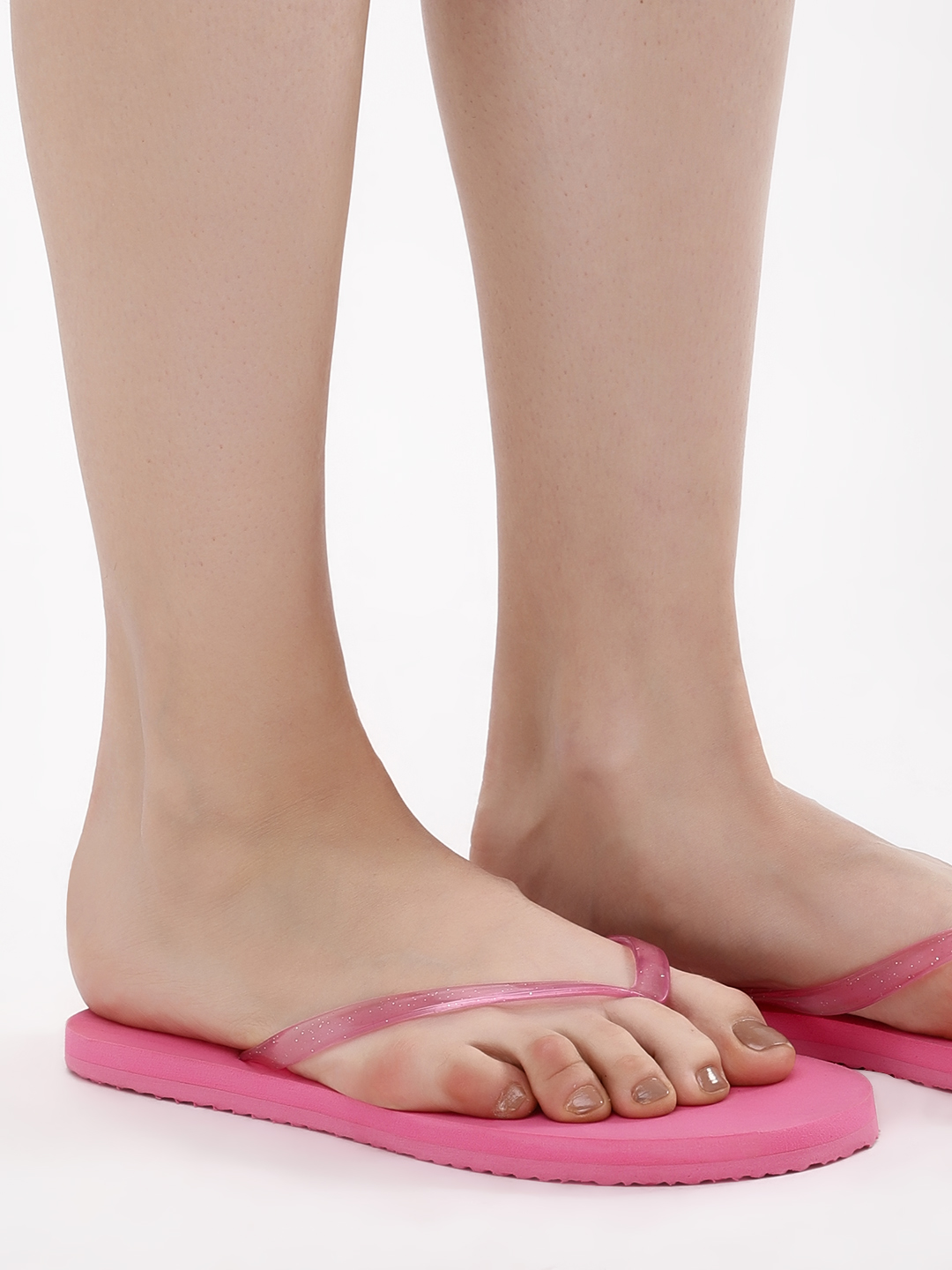 KOOVS Pink Toe Post Flip Flops 1