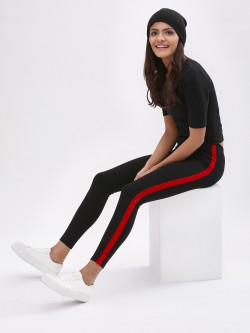 KOOVS Contrast Side Tape Sport Leggings