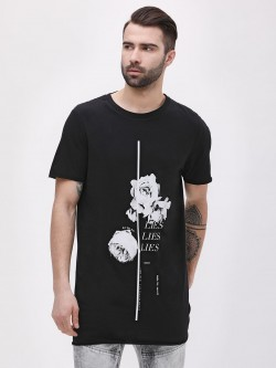 New Look Rose Lies Print T-Shirt