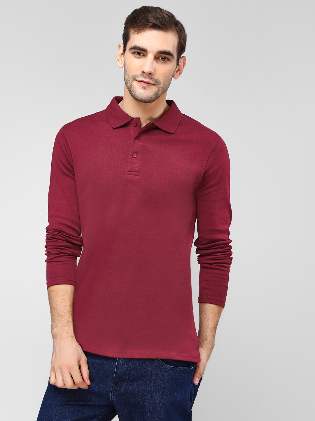 Blue Saint Red Long Sleeve Polo Shirt 1