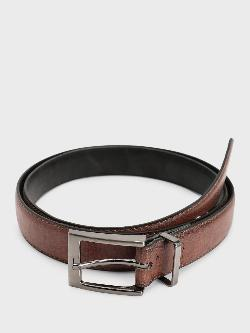 New Look Textured Rectangular Buckle Belt