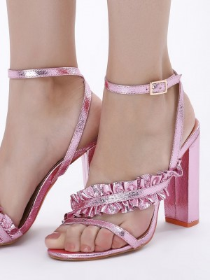 INTOTO Ruffled Cross Strap Hee...
