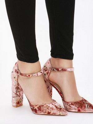 INTOTO Velvet Embroidered Heel...