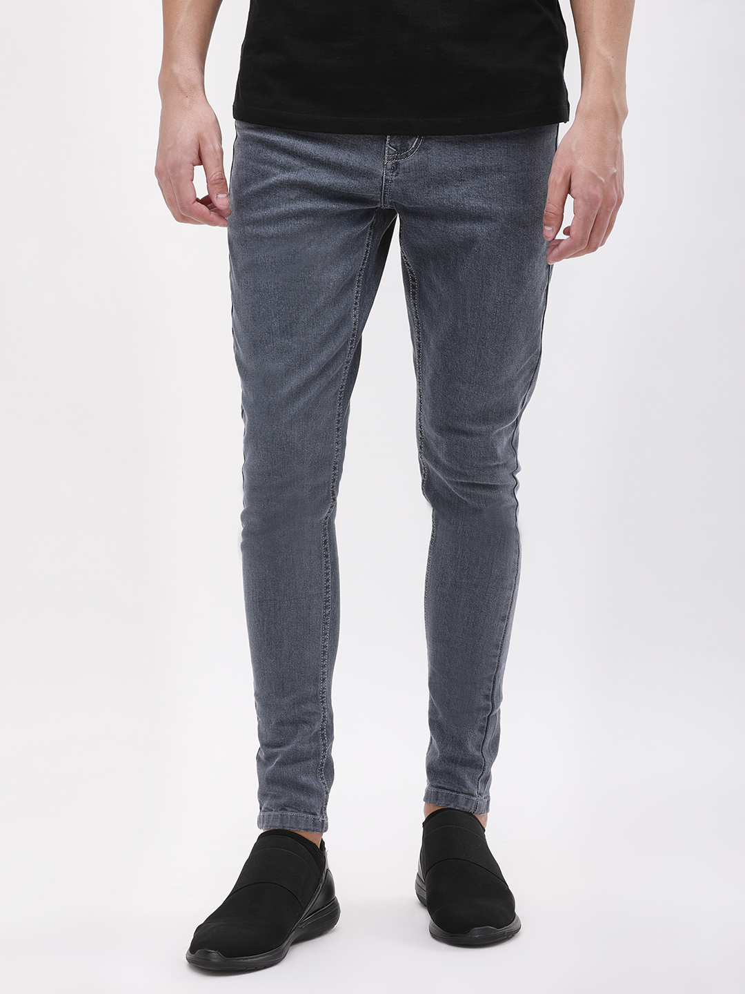 K Denim Grey KOOVS Basic Skinny Fit Jeans 1