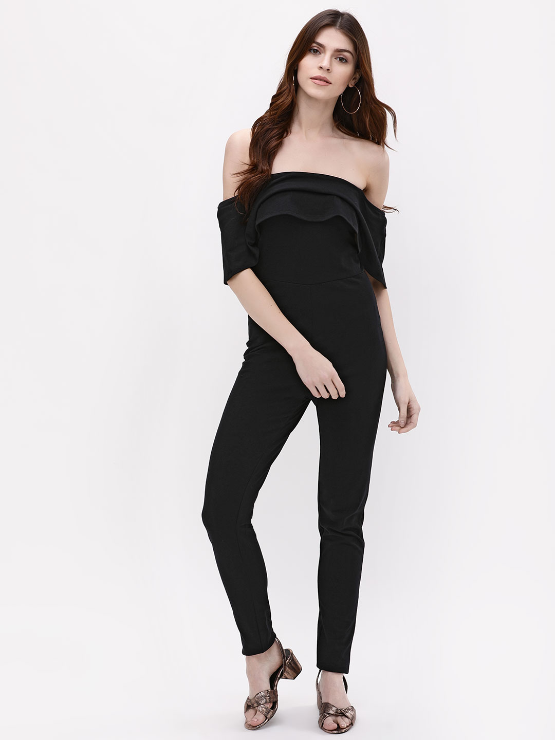 Catwalk88 Black Off Shoulder Jumpsuit 1