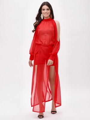 KOOVS Front Slit Maxi Dress...