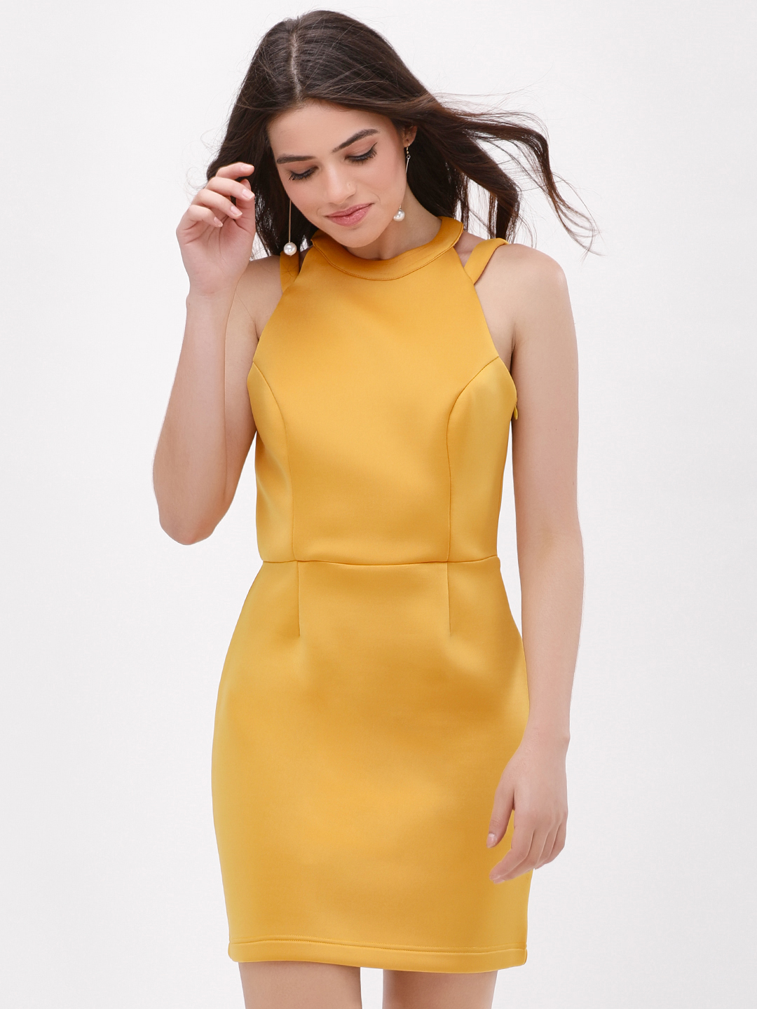 KOOVS OCHRE Bow Back Mini Dress 1