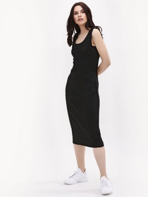 KOOVS Bodycon Midi Vest Dress...