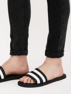 Griffin Sliders With Stripes Panel