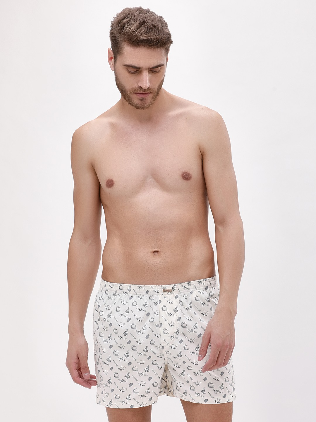 Flying Machine White Antique Boxers 1