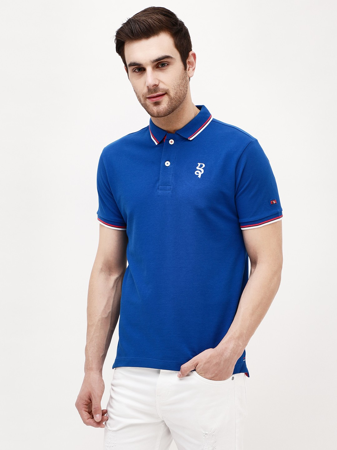 Being Human Blue Contrast Tipping Polo Shirt 1