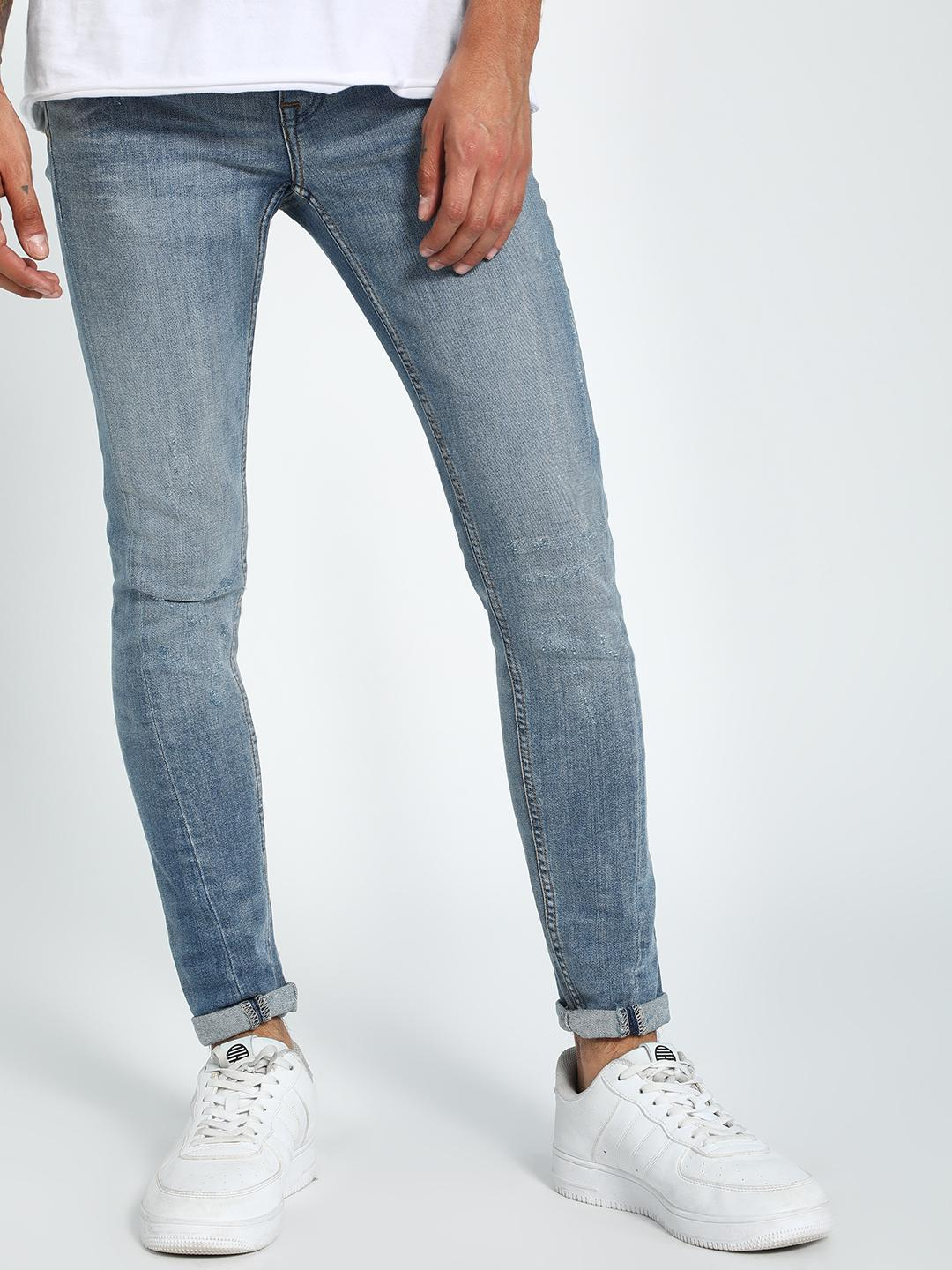 New Look PALE BLUE Light Wash Skinny Jeans 1