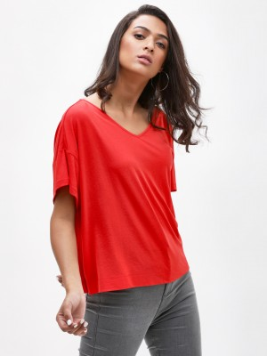 KOOVS V-Neck Easy Fit Top...